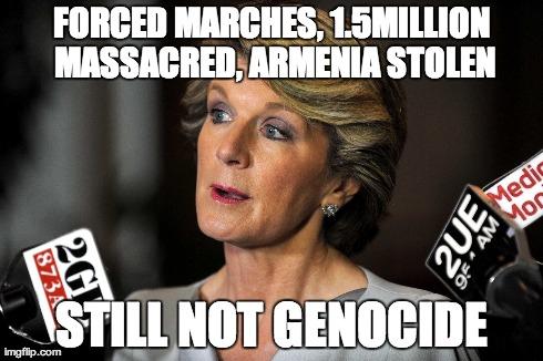 Australia Falls Behind As Foreign Minister Explicitly Denies The Armenian Genocide Australia Armenia Com Au Armenian Australian News
