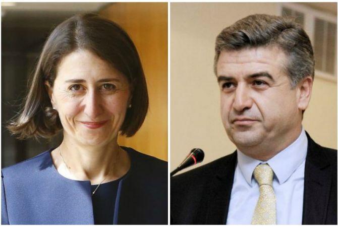 Prime Minister of Armenia congratulates new NSW Premier